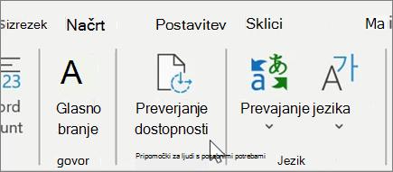 Preverjanje dostopnosti v Word1