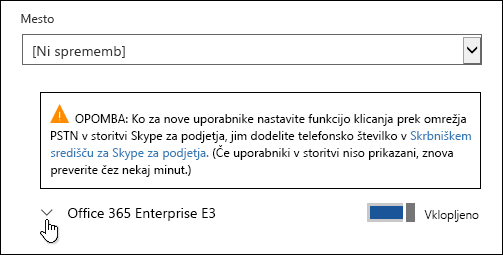 Razširite licenco, da prikažete aplikacijo Microsoft Forms