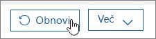 Obnovitev uporabnika v storitvi Office 365.