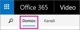 Gumb »Osnovno« v zgornji vrstici za krmarjenje portala Office 365 Video