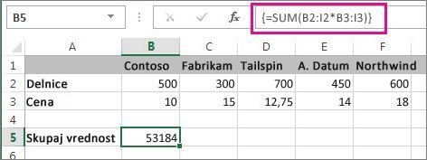 Običajna formula polja