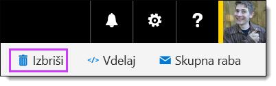 Brisanje videoposnetka v storitvi Office 365 Video