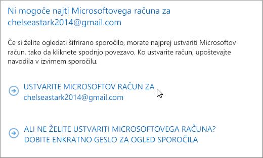 Ustvarite Microsoftov račun