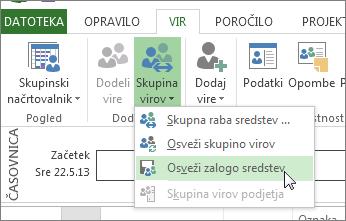 Posodabljanje skupine virov po urejanju virov v datoteki v skupni rabi