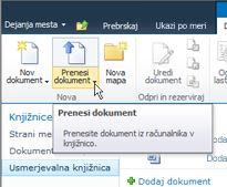 Prenos dokumentov v usmerjevalno knjižnico