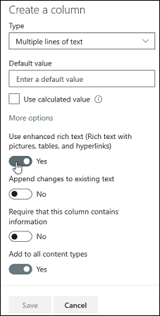 Uporaba izboljšanega obogatenega besedila