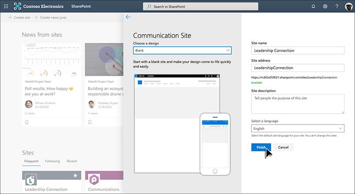 Ustvarjanje spletnega mesta za komunikacijo