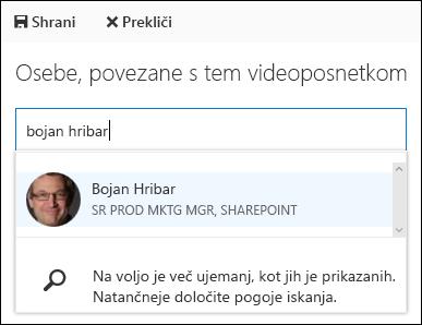 Sodelavec ljudje videa storitve Office 365