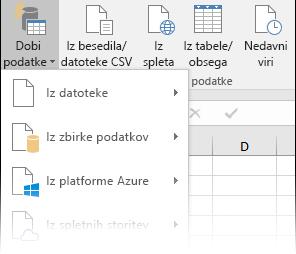 Podatki > Dobi in pretvori > Dobi podatke