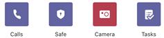 Zavihki pod menijem» več «v aplikaciji Teams