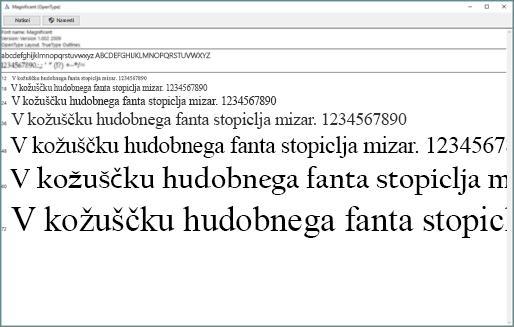 S pregledovalnikom pisav sistema Windows si ogledate in namestite pisave v računalnik s sistemom Windows