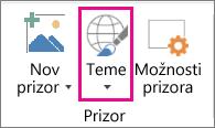 Možnost »Teme« za 3D-zemljevide