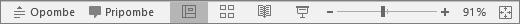 Pokaže gumbe »Pogledi« na dnu zaslona v PowerPointu