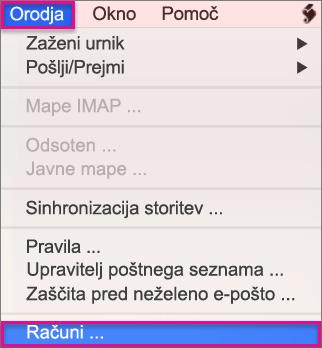 Orodja > Računi