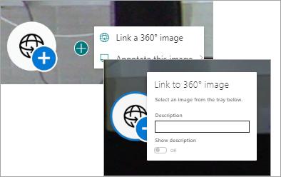 Izbira menija za povezavo 360
