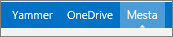 Zgornja menijska vrstica programa SharePoint 2013