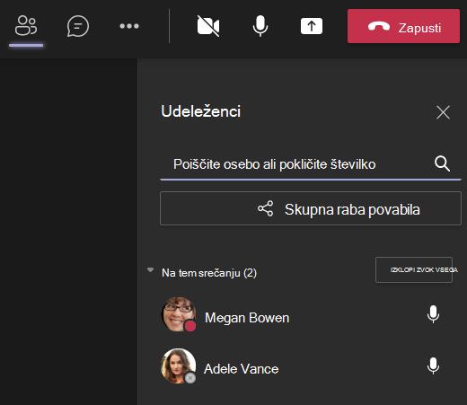 Teams-invite someone to a call screen
