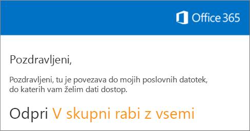 Odprite e-poštno sporočilo in kliknite »Obišči spletno mesto«.