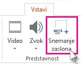 Vstavljanje > Snemanje zaslona