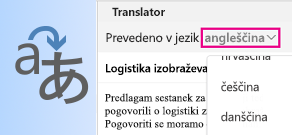 Prevajalnik za Outlook for Mac