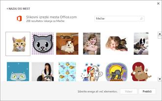 Primer slik mačk na strani s slikovnimi izrezki