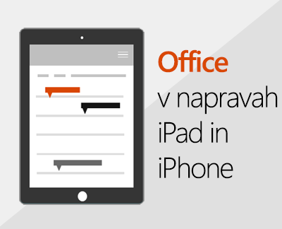 Kliknite, če želite nastaviti Officeove aplikacije v napravi s sistemom iOS