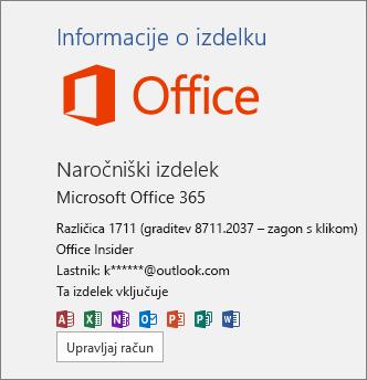 Graditev programa Office Insider