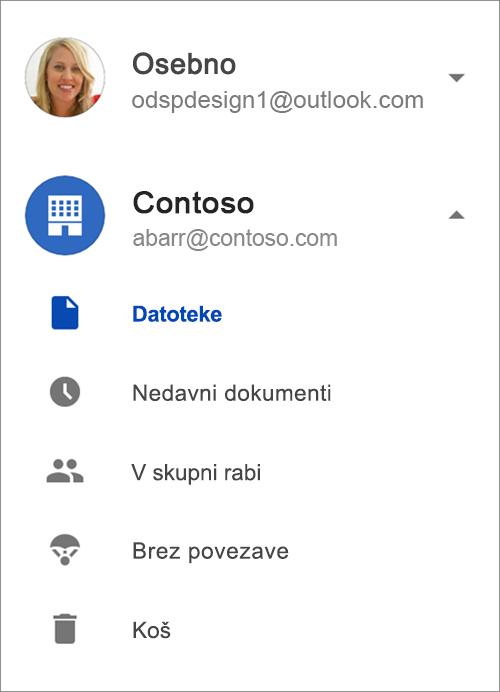 OneDrive za podjetja.