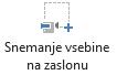 Gumb »Snemanje zaslona« na zavihku »Snemanje« v programu PowerPoint 2016