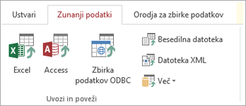 Dostop do zunanji podatki «»