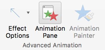 Kliknite podokno animacije