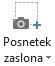 Posnetek zaslona gumba na zavihku snemanje v programu PowerPoint 2016