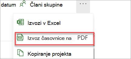 Izvoz v PDF