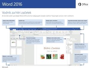 Vodnik za hitri začetek za Word 2016 (Windows)