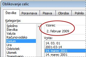 Sample box selected in Format Cells dialog box