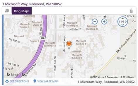 Zemljevid Bing