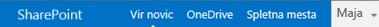 Vrstica za krmarjenje strežnika SharePoint Server 2013