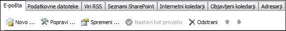 Dodajanje novega računa v programu Outlook 2010