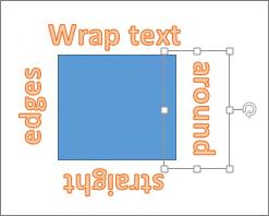Dodajanje WordArta tako, da obdaja obliko z ravnimi robovi
