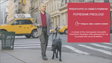 Slabovidni moški sprehodi, ki pomagajo pri psu s pogledom na oči
