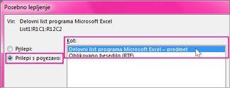 Izberite Microsoft Excel