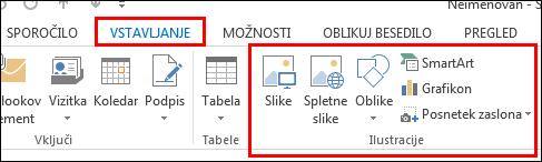 Outlook 2013 Vstavljanje slike