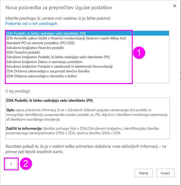 Predloge pravilnika DLP z možnostjo najmanjše število