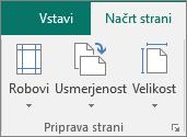 «Skupina» Priprava strani na zavihku načrt strani.