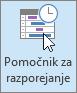 Outlook, gumb pomočnika za razporejanja časa