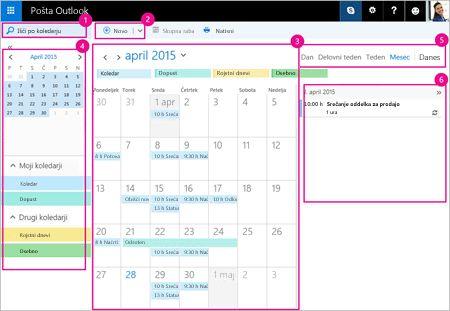 S koledarjem upravljajte svoja srečanja in druge dogodke.