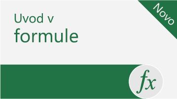Uvod v formule v Excelu