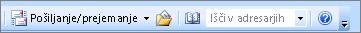 Polje za iskanje v programu Outlook 2007 naslov knjige