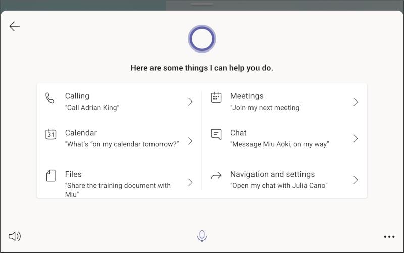 Microsoft Teams zaslon s poizvedbami