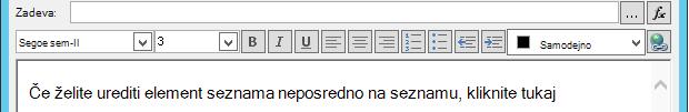 Določite zaslon e-poštnega sporočila, ko vstavite spremenljivko